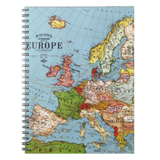 Vintage Europe 20th Century General Map Note Books