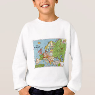 Vintage Europe 20th Century General Map Sweatshirt