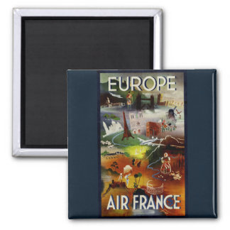 Vintage Europe Air France Travel magnet