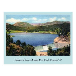 Vintage Evergreen Dam and Lake, Bear Creek Canyon Postcard