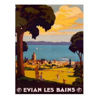 Vintage Évian-les-Bains, Rhône-Alpes, France - Postcard