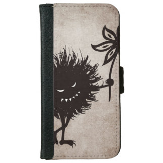 Vintage Evil Bug Gives Flower iPhone 6 Wallet Case