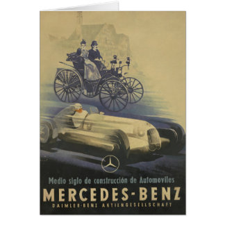 Vintage Evolution of the Classic Car Card