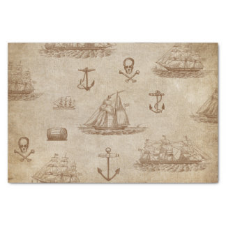Vintage Expedition, A Collection of Ships Tissue Paper