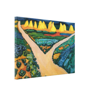 Vintage Expressionism, Vegetable Fields by Macke Canvas Print