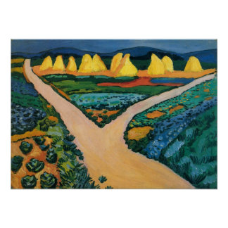 Vintage Expressionism, Vegetable Fields by Macke Poster