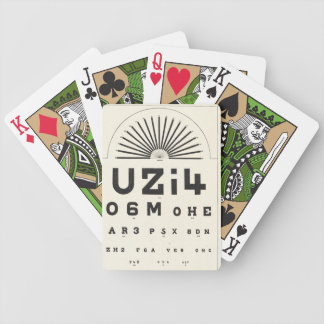 Vintage Eye Chart Bicycle Playing Cards