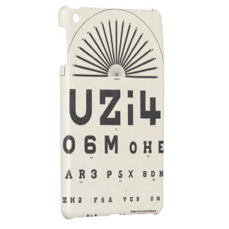 Vintage Eye Chart iPad Mini Covers
