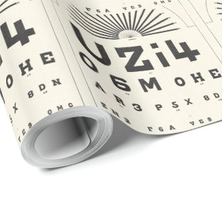 Vintage Eye Chart Wrapping Paper
