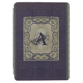 Vintage Fabric Book Design Monogrammed iPad Air Cover