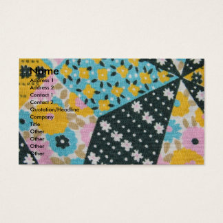 Vintage Fabric Business Card