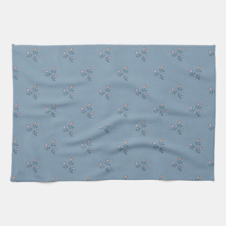Vintage Fabric-Inspired Gray-Blue Kitchen Towel
