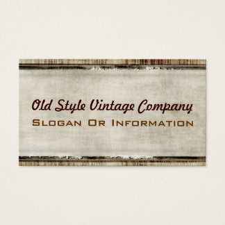 Vintage Fabric Look Business Cards