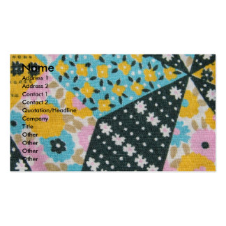 Vintage Fabric Pack Of Standard Business Cards