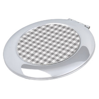 Vintage Fabric Series_Gray-Gingham Vanity Mirror
