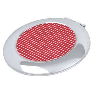 Vintage Fabric Series_Red-Gingham Compact Mirror