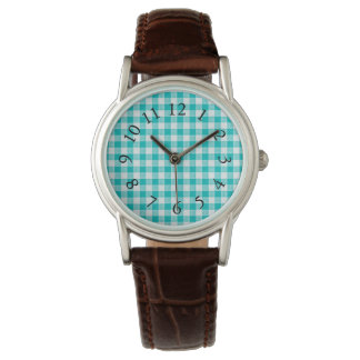 Vintage-Fabric-Series_Turquoise-Plaid Watch