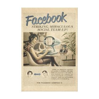 Vintage Facebook Canvas