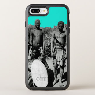 Vintage Faces of Africa Watercolor Black and White OtterBox Symmetry iPhone 8 Plus/7 Plus Case