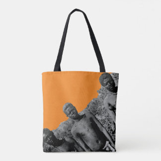 Vintage Faces of Africa Watercolor Black and White Tote Bag