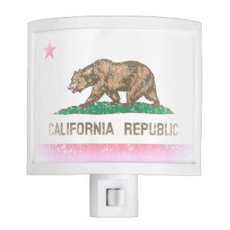Vintage Fade California Flag Nite Lights