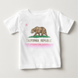 Vintage Fade California Republic Flag Baby T-Shirt