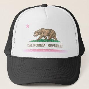 7f5fac93 Vintage Fade California Republic Flag Trucker Hat