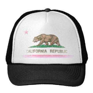 Vintage Fade California Republic Flag Trucker Hat
