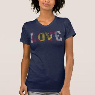 Vintage Fade Love Colorado Flag T-Shirt
