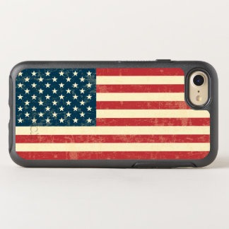Vintage Faded American Flag USA OtterBox Symmetry iPhone 7 Case