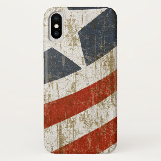 Vintage Faded American iPhone X Case