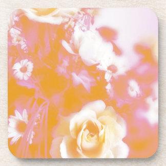 Vintage Faded Floral Arrangement Photography Drink Coasters
