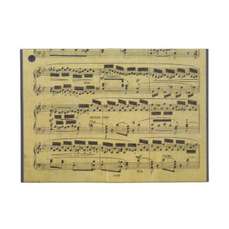 Vintage Faded Sheet Music Notes for Musicians Cover For iPad Mini