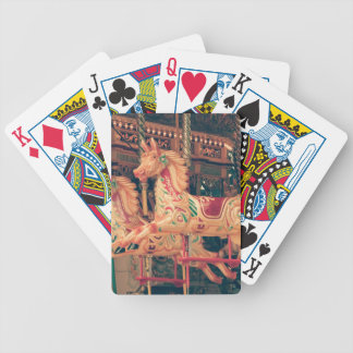 Vintage Fairground Carousel Horses Bicycle Playing Cards