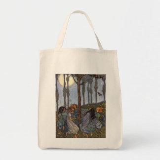 Vintage - Fairies Dance Around a Tree, Tote Bag