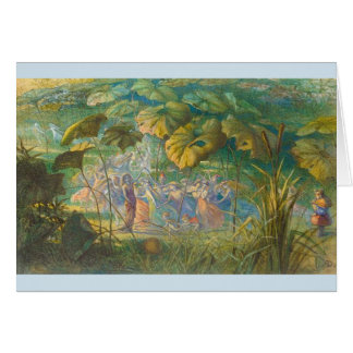 Vintage - Fairies Dancing in a Clearing, Card