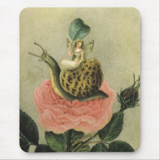 Vintage - Fairy in a Garden, Mouse Pad