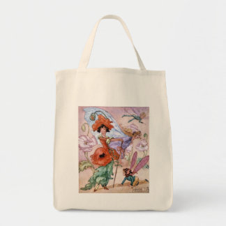 Vintage - Fairy in Fashionable Pose, Tote Bag
