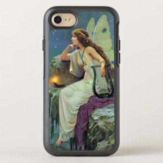 Vintage Fairy on Cliff in Candlelight With Harp OtterBox Symmetry iPhone 7 Case