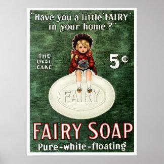 Vintage Fairy Soap Advertisement Poster