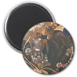 Vintage Fairy Tale, Aladdin and the Magic Lamp 2 Inch Round Magnet