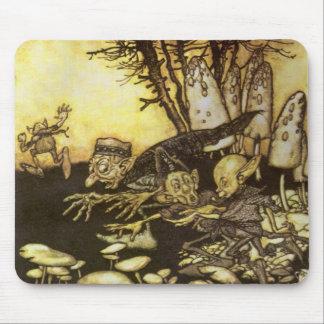 Vintage Fairy Tale, Band of Workmen by Rackham Mouse Pad