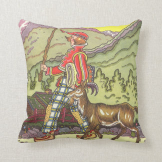 Vintage Fairy Tale, Boy and the North Wind, Hauman Throw Pillow