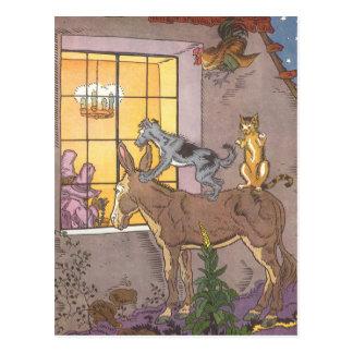 Vintage Fairy Tale, Bremen Town Musicians, Hauman Postcard