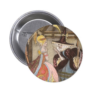 Vintage Fairy Tale, Cinderella and Fairy Godmother 2 Inch Round Button