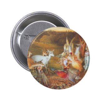 Vintage Fairy Tale, Enchanted Forest by Fitzgerald 2 Inch Round Button