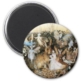 Vintage Fairy Tale Fairy Twilight, John Fitzgerald 2 Inch Round Magnet