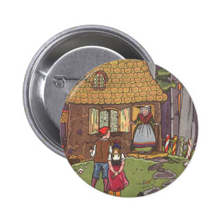 Vintage Fairy Tale, Hansel and Gretel by Hauman 2 Inch Round Button