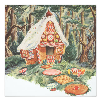 Vintage Fairy Tale, Hansel and Gretel Invitation