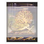 Vintage Fairy Tale, Little Mermaid in Ocean Coral Custom Flyer